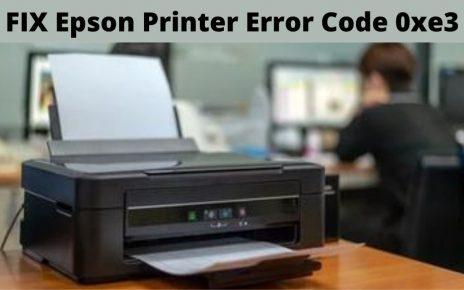 epson printer error code 0xe3